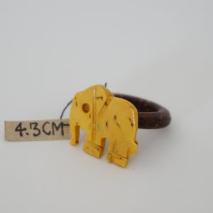 Lemon Yellow Elephant Coconut Ring