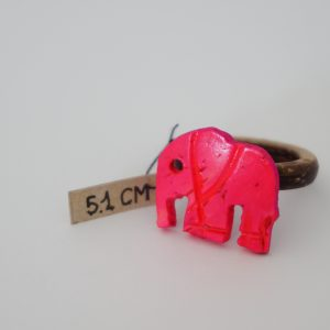 Pink Elephant Coconut Ring