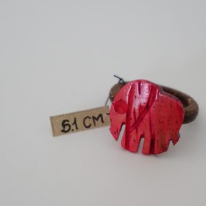 Cherry Red Elephant Coconut Ring