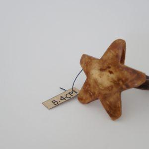 Natuaral wood coconut star ring