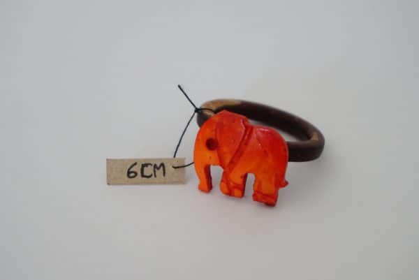 Bright Red Elephant Coconut Ring