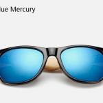 Bamboo Sunglasses - Black Blue Mercury