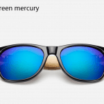 Bamboo Sunglasses - Black Green Mercury