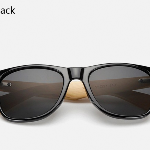 Bamboo Sunglasses - Shiny Black