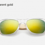 Bamboo Sunglasses - Transparent Gold