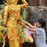 Gold Leaf on Statue
