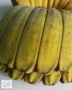 close up of fused bananas